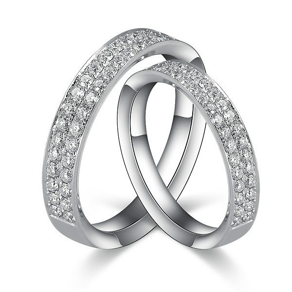 1 Carat Diamond Couples His and Her Rings Bands