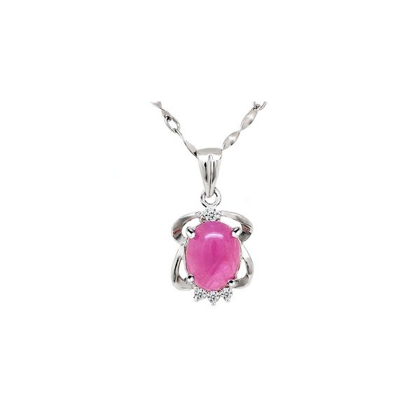 2 carats solitaire ruby pendant necklace for women jeenjewels 2 carats solitaire ruby pendant necklace for women mozeypictures Image collections