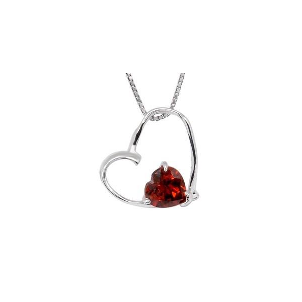 1 carat heart design solitaire garnet necklace pendant jeenjewels 1 carat heart design solitaire garnet necklace pendant mozeypictures Images
