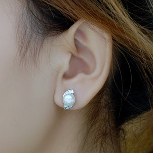 Twin 8mm Pearl Solitaire Earrings For Women