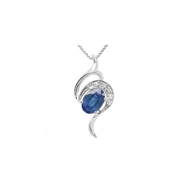 1 carat solitaire sapphire necklace pendant for women jeenjewels 1 carat solitaire sapphire necklace pendant for women aloadofball Image collections