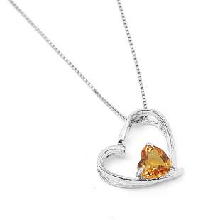1 carat citrine heart shape necklace pendant for women jeenjewels 1 carat citrine heart shape necklace pendant for women mozeypictures Image collections