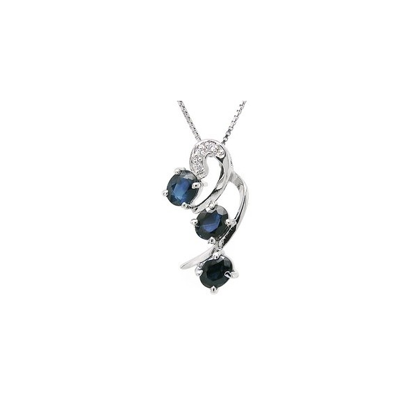 Three stone past present and future 15 carat sapphire necklace three stone past present and future 15 carat sapphire necklace pendant aloadofball Gallery