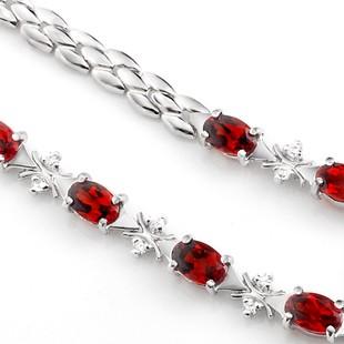 Inexpensive S Shape 3 5 Carat Garnet Tennis Bracelet For Women On