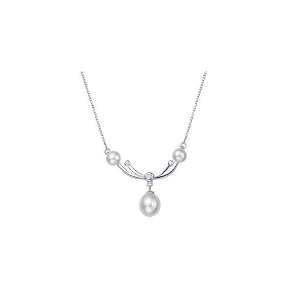 Three pearl past present and future pendant necklace for women on three pearl past present and future pendant necklace for women on sale aloadofball Gallery