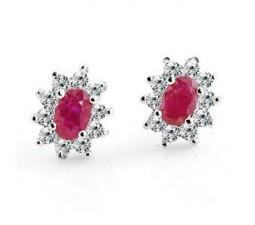 Cheap 1 Carat Ruby Earrings for Women on Sale
