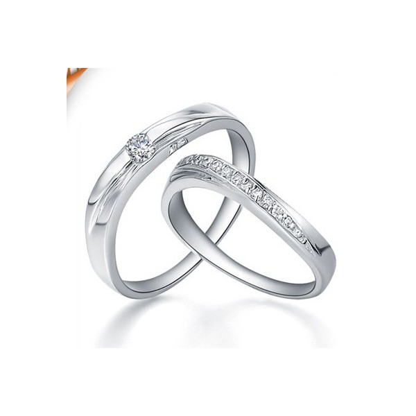 Cheap Wedding Bands.Magnetic Married Life Rings Diamond On Gold Jeenjewels
