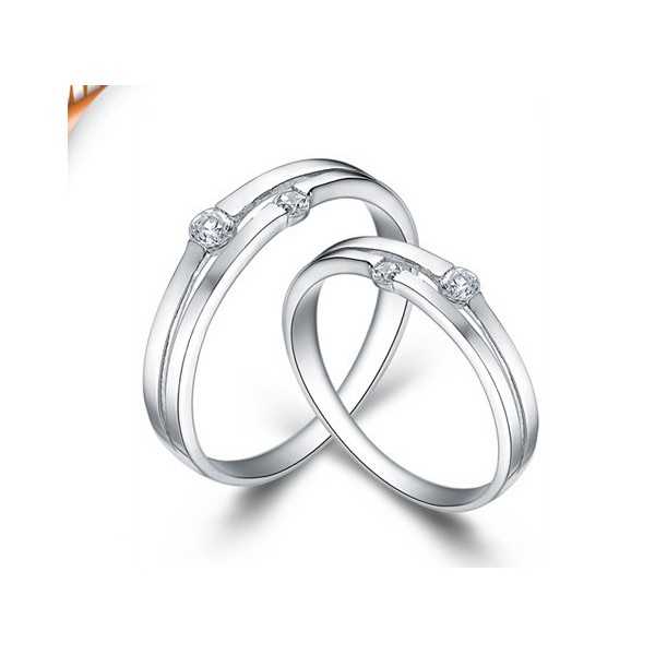 b5953f05550089 Inexpensive Couples Matching Wedding Ring Bands on sale · Queenly His and  Her Gift Rings Diamond on Gold