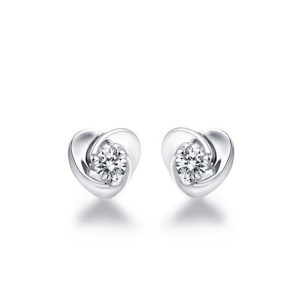 18k White Gold 1 Carat Diamond Earrings