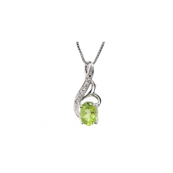 1 Carat solitaire Peridot pendant necklace for Women