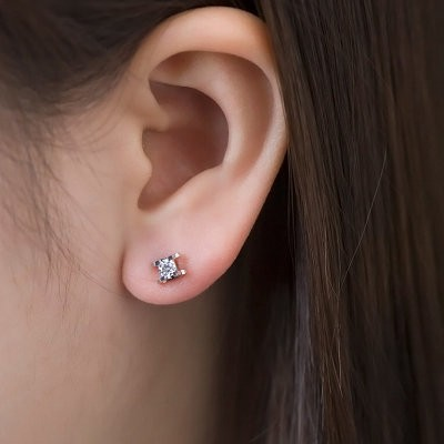 solitaire round diamond michaels carat stud lee earrings
