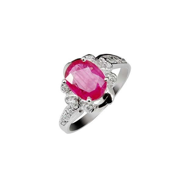 2 5 Carats Ruby Antique Engagement Ring For Women Jeenjewels