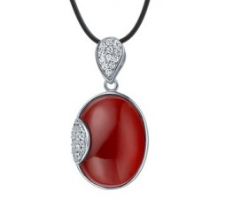 Agate necklace pendant for women