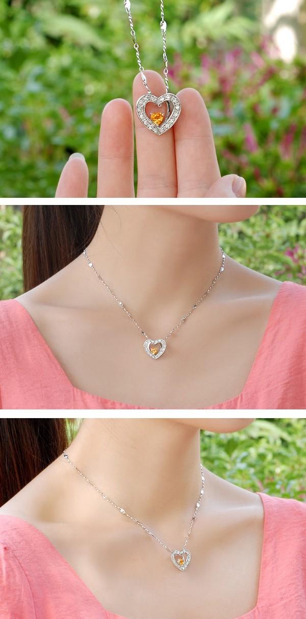 12 half carat citrine heart shape pendant necklace for women 12 half carat citrine heart shape pendant necklace for women mozeypictures Image collections