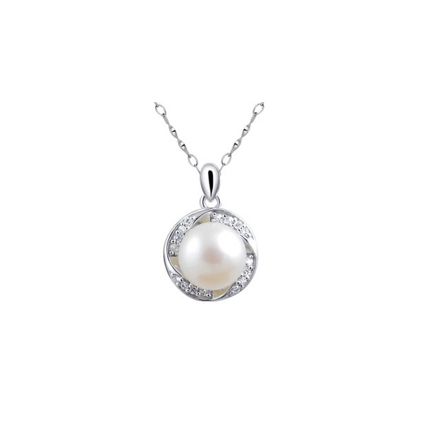 Solitaire circle pearl pendant necklace for women on sale jeenjewels solitaire circle pearl pendant necklace for women on sale aloadofball Gallery