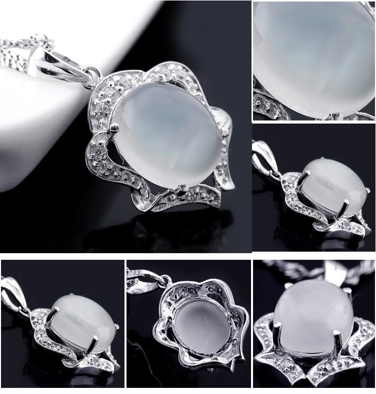 5 Carat Moonstone Pendant Necklace for Women - JeenJewels