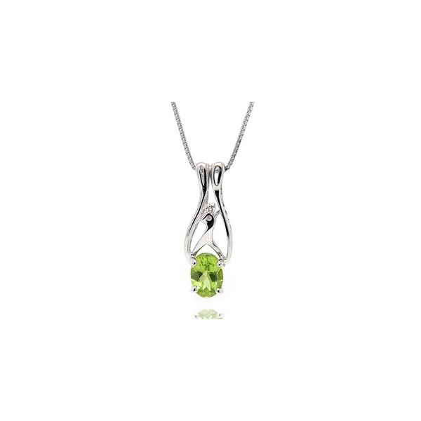 1 Carat Peridot solitaire Pendant Necklace for Women