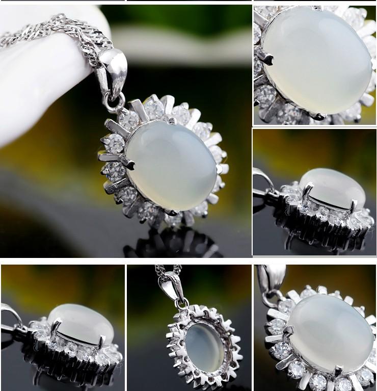 6 Carats Moonstone Pendant Necklace for Women - JeenJewels