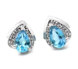 Soltiare Topaz 1 Carat earrings for women