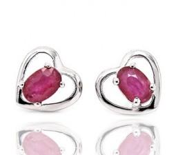 Soltiare Ruby 1 Carat earrings for women