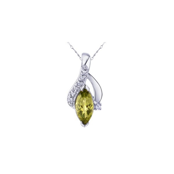 1 Carat Peridot Pendant Necklace for Women