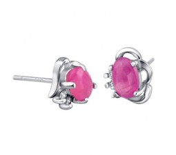 1 Carat solitaire Ruby Earrings for women on sale
