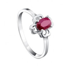 Half Carat Ruby engagement ring for women on sale