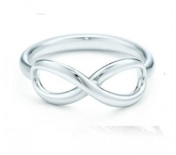 Inexpensive Infinity Ring on White Gold