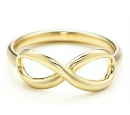 Infinity Engagement Ring on Yellow Gold