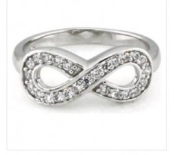 Classic Infinity Ring with 1/4 Carat diamonds on Gold
