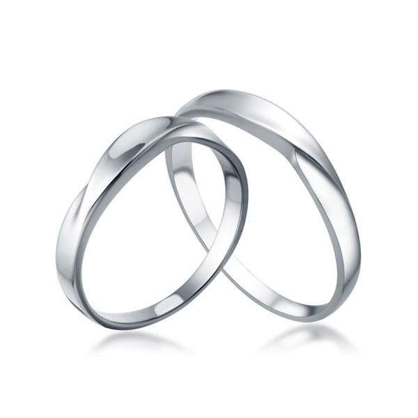 White Gold His And Her Matching Wedding Rings For Couples Jeenjewels