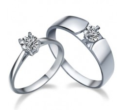 His and Her matching cz Wedding Ring Bands for couples