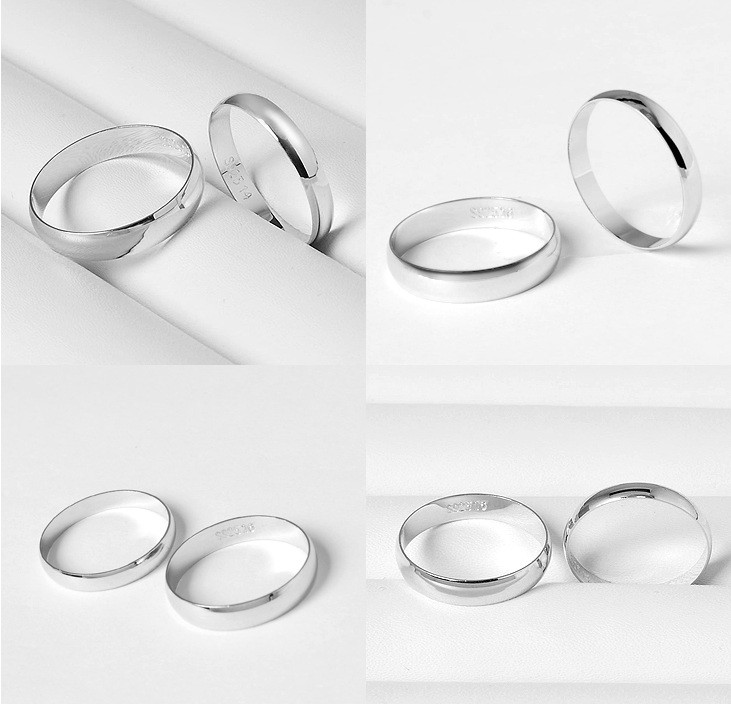 plain s sizes rings sterling itm all ebay silver ring wedding band