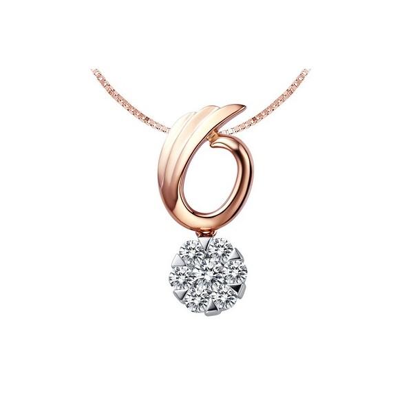 Love on wings diamond circle pendant jeenjewels 1 carat diamond pendant aloadofball Gallery