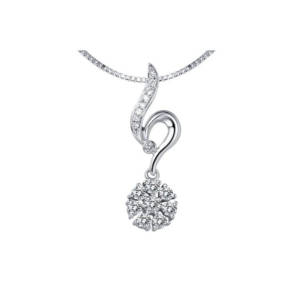 Half carat diamond pendant on 10k white gold jeenjewels 1 carat diamond pendant mozeypictures Choice Image