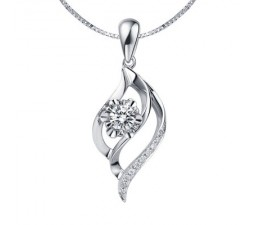Pendants diamond pendants diamond necklace pendant necklace 4 unique trendy diamond pendant on 9ct white gold aloadofball Choice Image