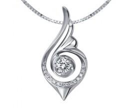 Fashion pendants fashion necklaces cheap fashion pendants unique and beautiful diamond pendant on 18k white gold aloadofball Choice Image