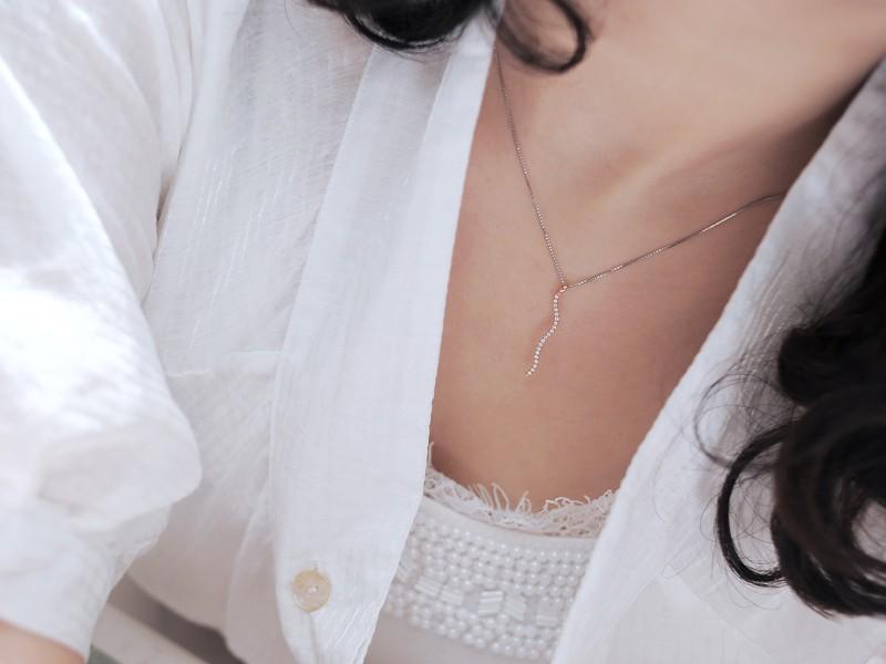 Journey pendant necklace necklace wallpaper gallerychitrak 1 carat diamond journey pendant on 18k rose gold jeenjewels aloadofball Images