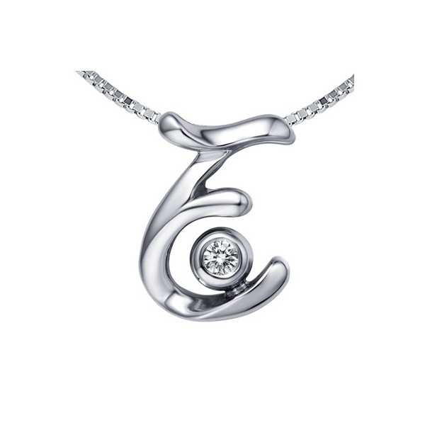 E initial diamond pendant on 10k white gold jeenjewels 1 carat diamond pendant aloadofball Choice Image