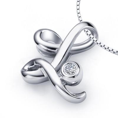 L initial alphabet diamond pendant on 10k white gold jeenjewels 1 carat diamond pendant 1 carat diamond pendant aloadofball Gallery