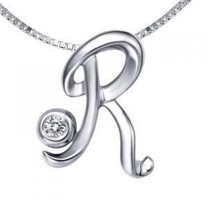 r alphabet in diamond  home pendants diamond pendants...