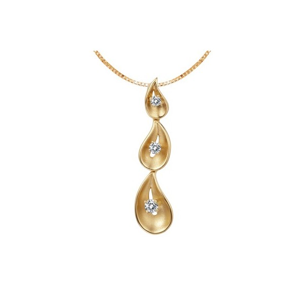 Tear drop pendant on 18k rose gold jeenjewels 1 carat diamond pendant aloadofball Choice Image