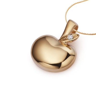 Apple diamond pendant on 18k rose gold jeenjewels 1 carat diamond pendant 1 carat diamond pendant aloadofball Image collections