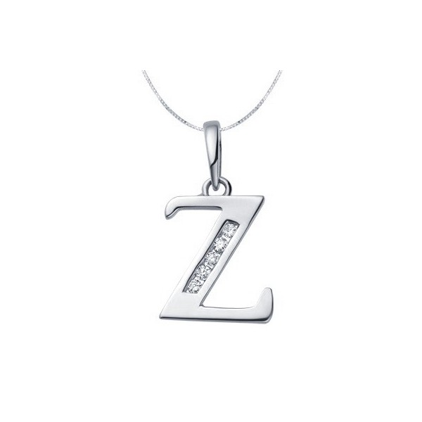 Z Alphabet In Diamond 1 Carat Diamond Pendant