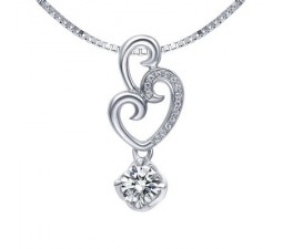 1/4 Carat Diamond Pendant on 14k White Gold