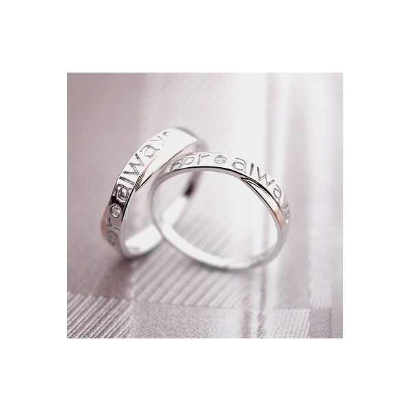... Real diamonds For Always Couples Matching Promise Wedding Rings Bands