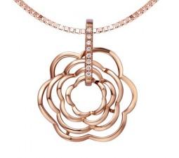 1/10 Carat Diamond Heart Shape Pendant on 18k Rose Gold