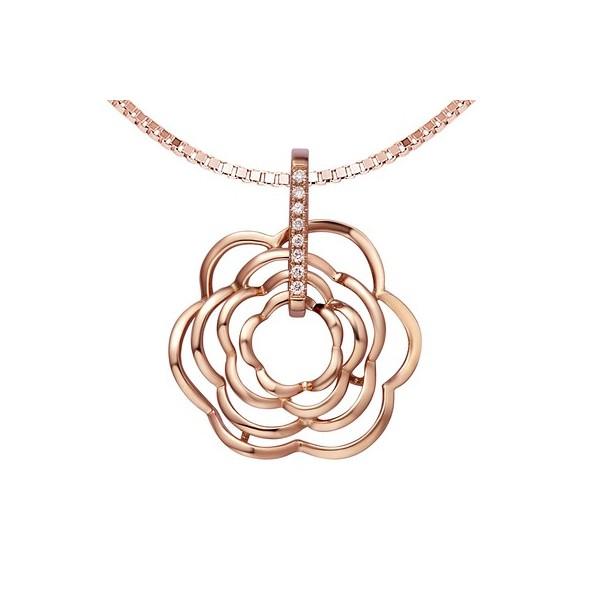 Flower necklaces flower pendants diamond flower necklaces jeenjewels luxurious and unique diamond pendant on 18ct rose gold aloadofball Gallery