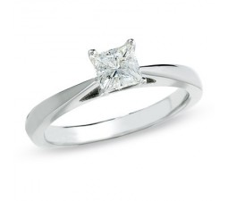 Princess Half Carat Diamond Engagement Ring on June Sale