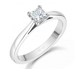 1/3 Carat Princess solitaire Ring on June Sale